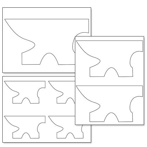 Printable Anvil Shape — Printable Treats.com.
