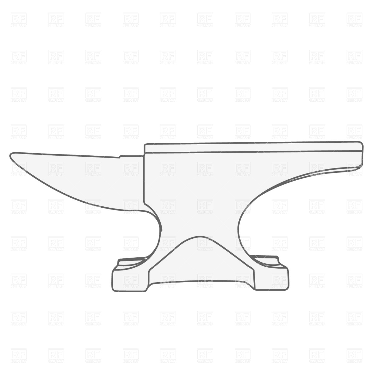 Farrier's Anvil Vector Image #469.