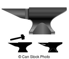 Anvil vector Vector Clip Art Illustrations. 609 Anvil vector.