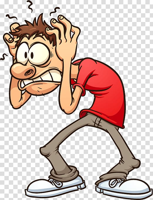 Anxiety disorder Open Panic attack, headache transparent.