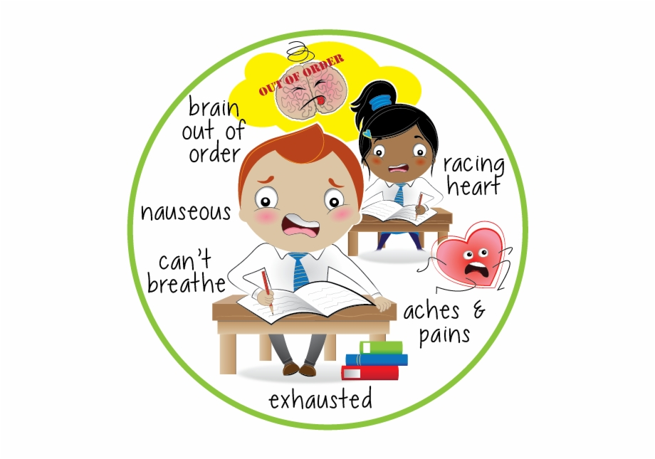 Graphic Royalty Free Nervous Clipart Exam.