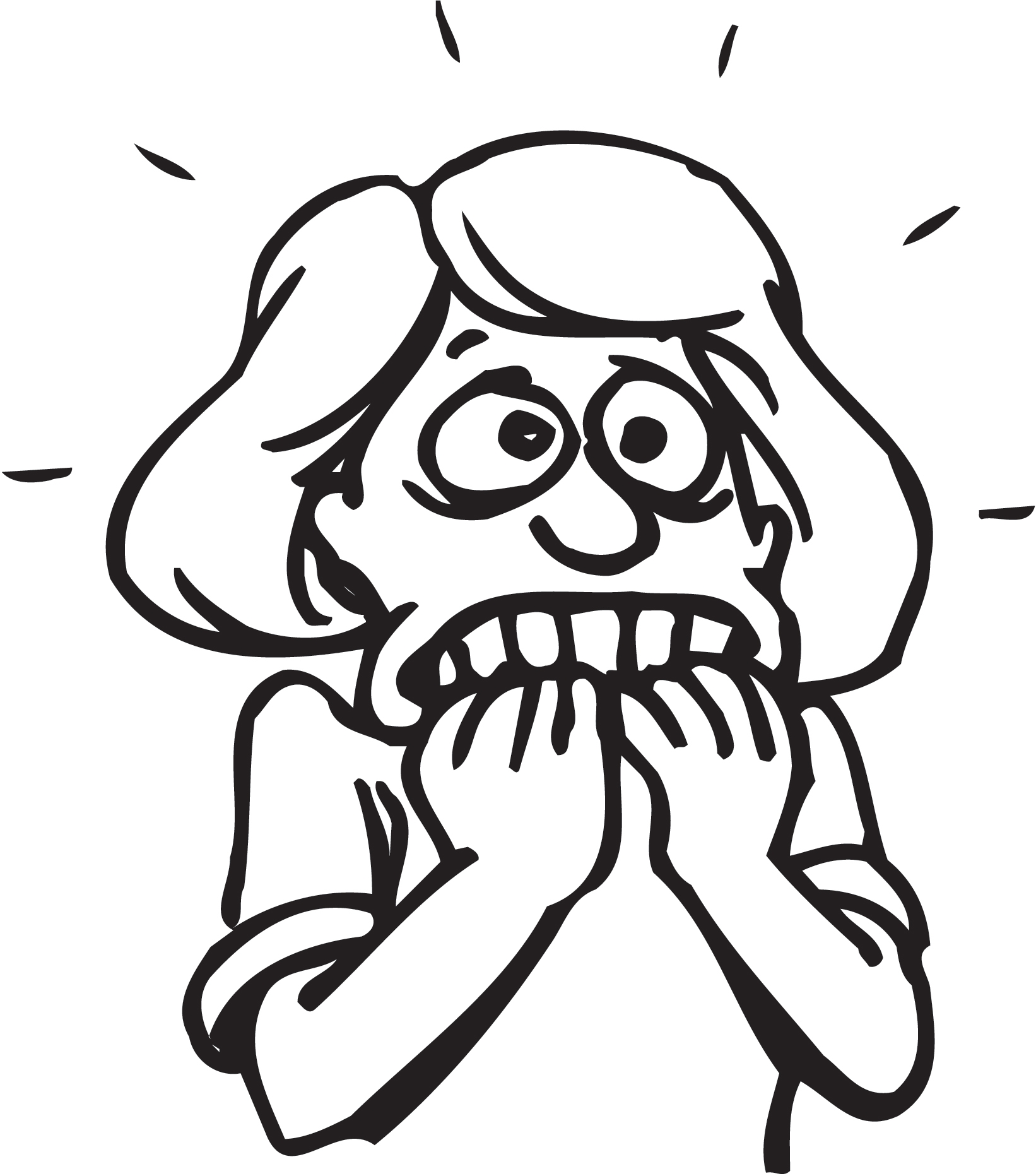 Clipart anxiety.