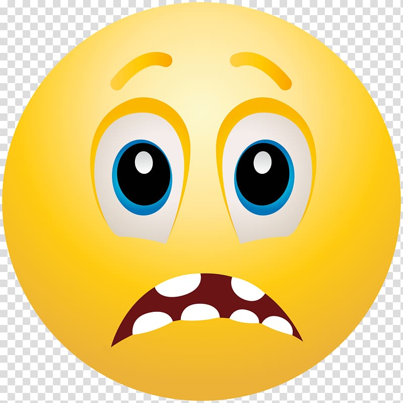 Emoticon Smiley Emoji Fear , Emoji transparent background.