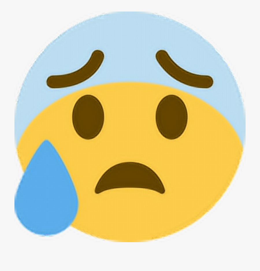 Ohno Scared Worried Anxious Emoji Emoticon Face Express.
