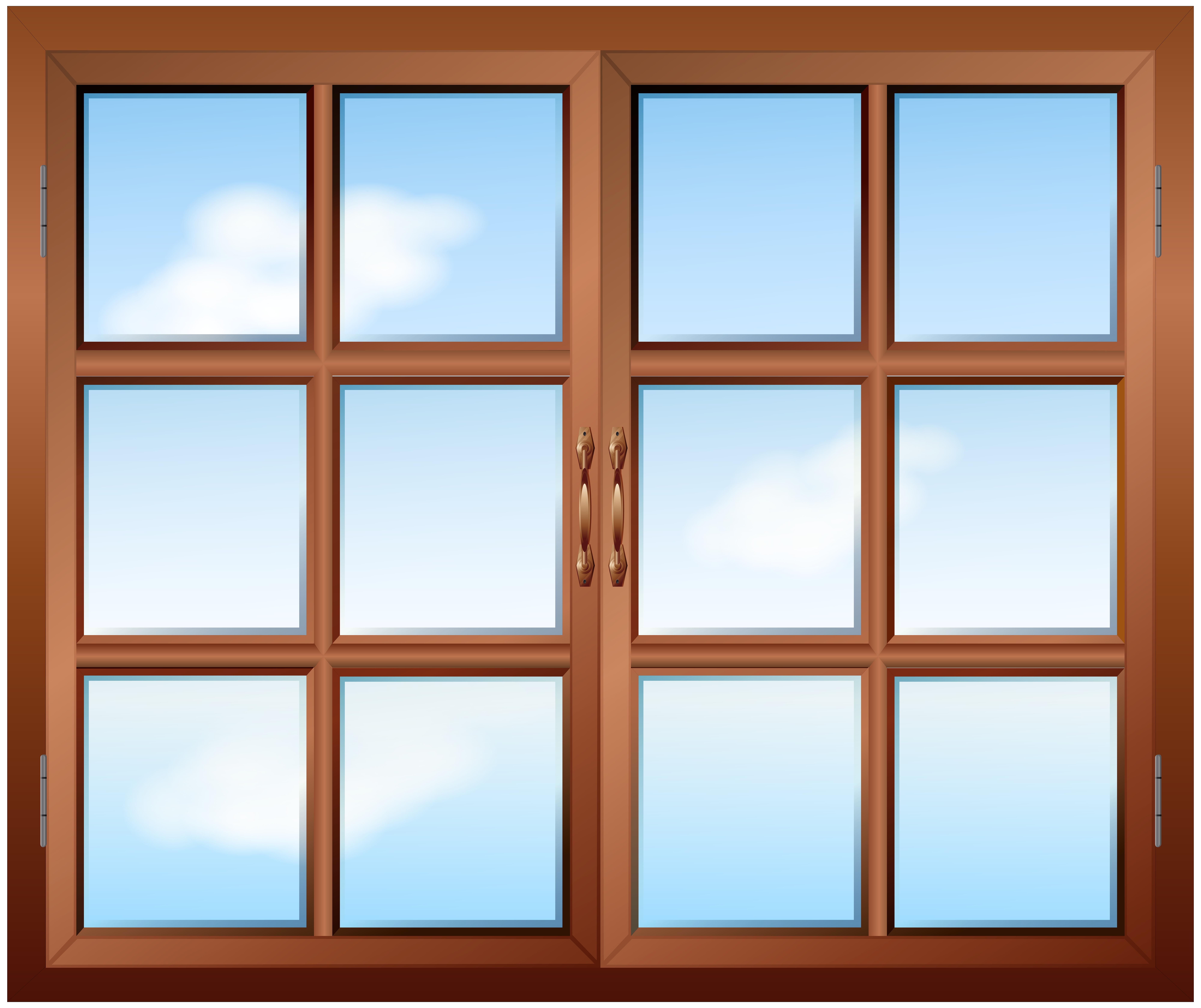 Brown Window PNG Clip Art.