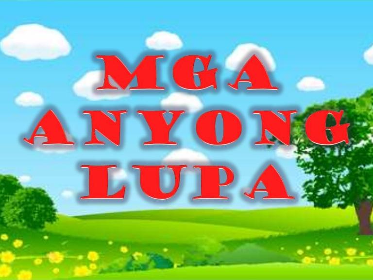 Mga anyong lupa.