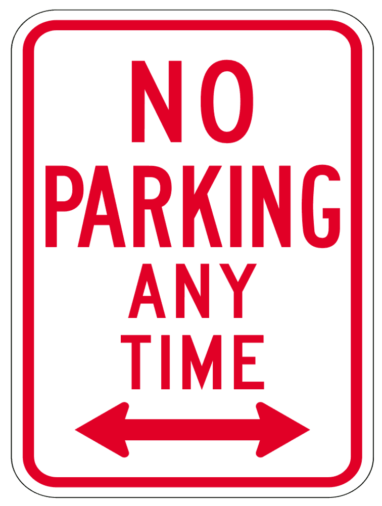 No Parking Any Time Clip Art Download.