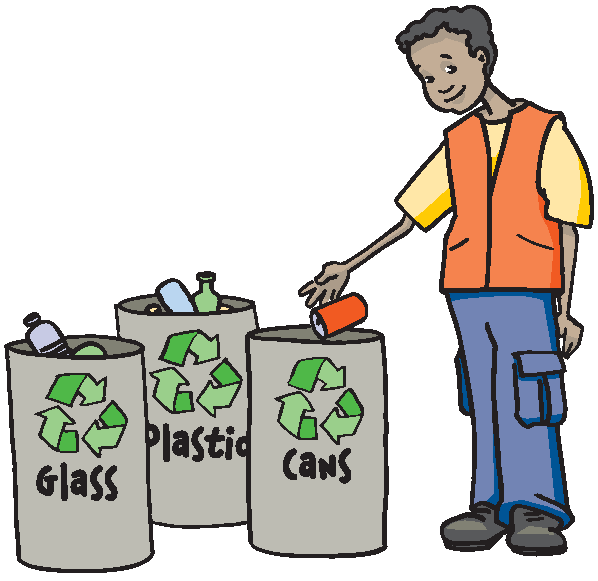 Throwing garbage anywhere clipart.