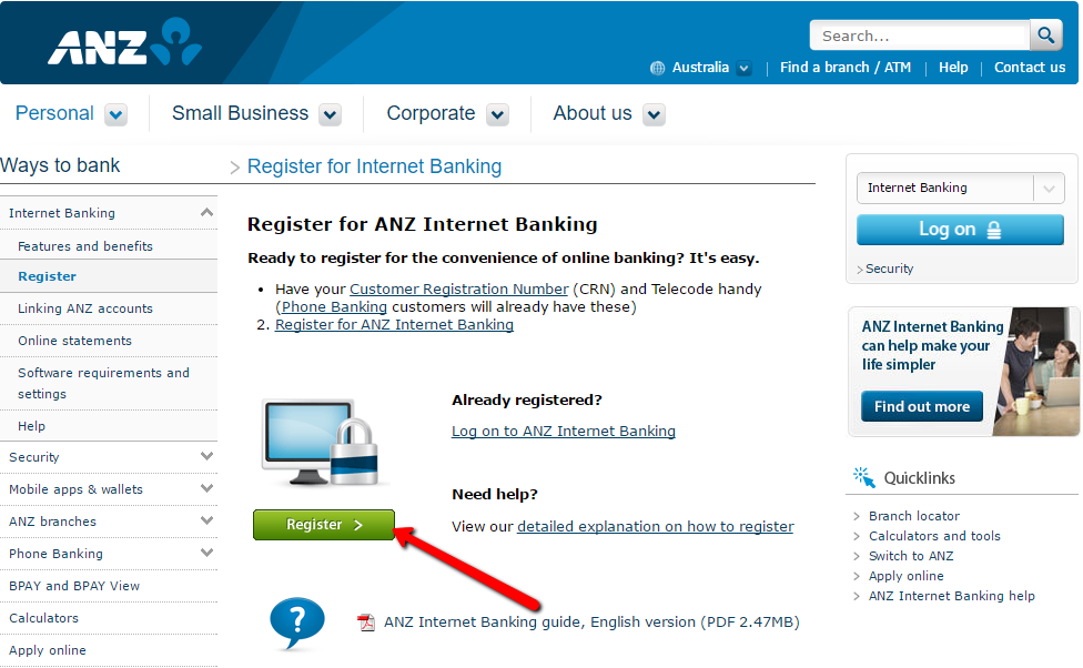 Anz internet banking png 3 » PNG Image.