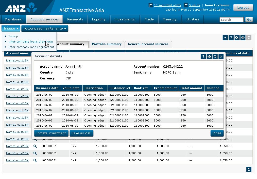 Jady Mulqueeney • ANZ Transactive Asia account details.
