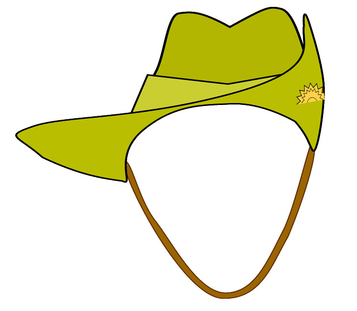 digger ANZAC army hat clipart, 11 cm.