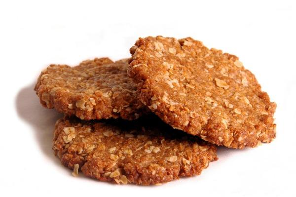 Anzac biscuit: anzac, art, biscuit, culinary, en, sweet.