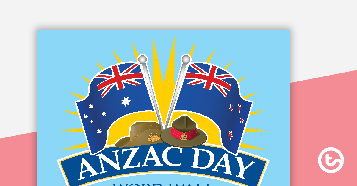 ANZAC Day Word Wall Vocabulary.