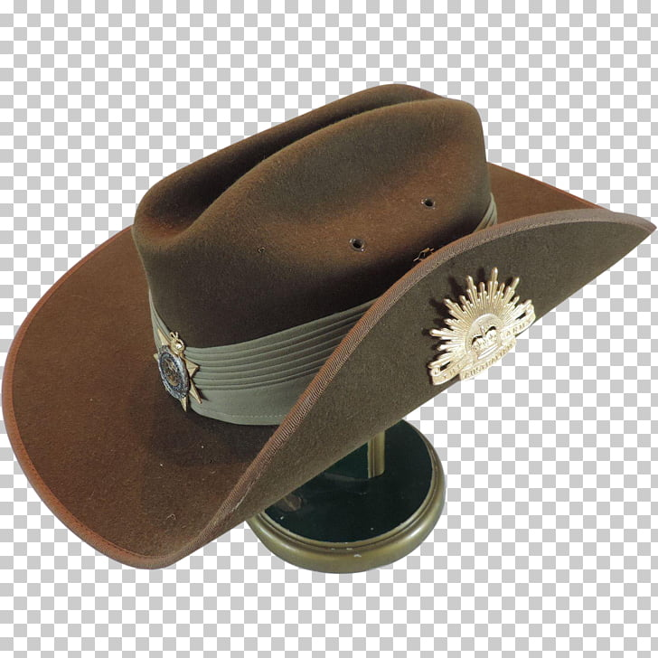 Slouch hat Australian Army Cap, cowboy badge PNG clipart.