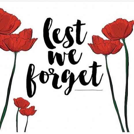 Anzac Day ~ Lest We Forget ♥.