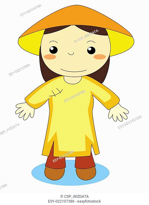 Painting ao dai Stock Photos and Images.