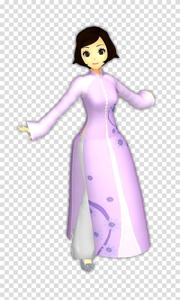 Costume design Cartoon Character Figurine, ao dai.