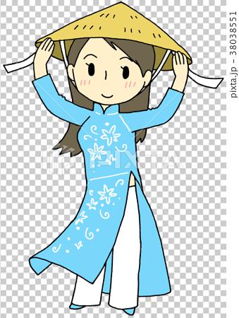 Ao dai woman.