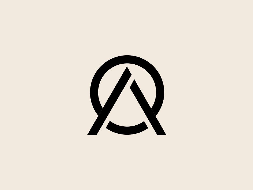 Minimalist Logo Minimal Logo Minimal AO OA ao icon by.