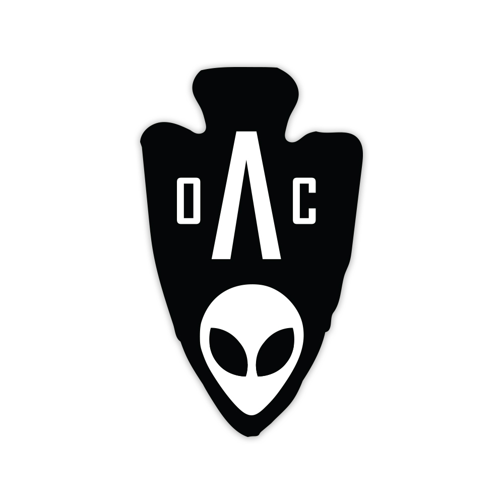 AOC LOGO BLACK DECAL.
