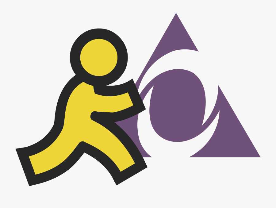 Aol Instant Messenger 01 Logo Png Transparent.