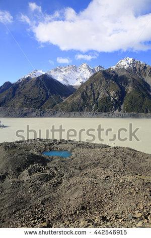 "hooker Glacier"" Stock Photos, Royalty."