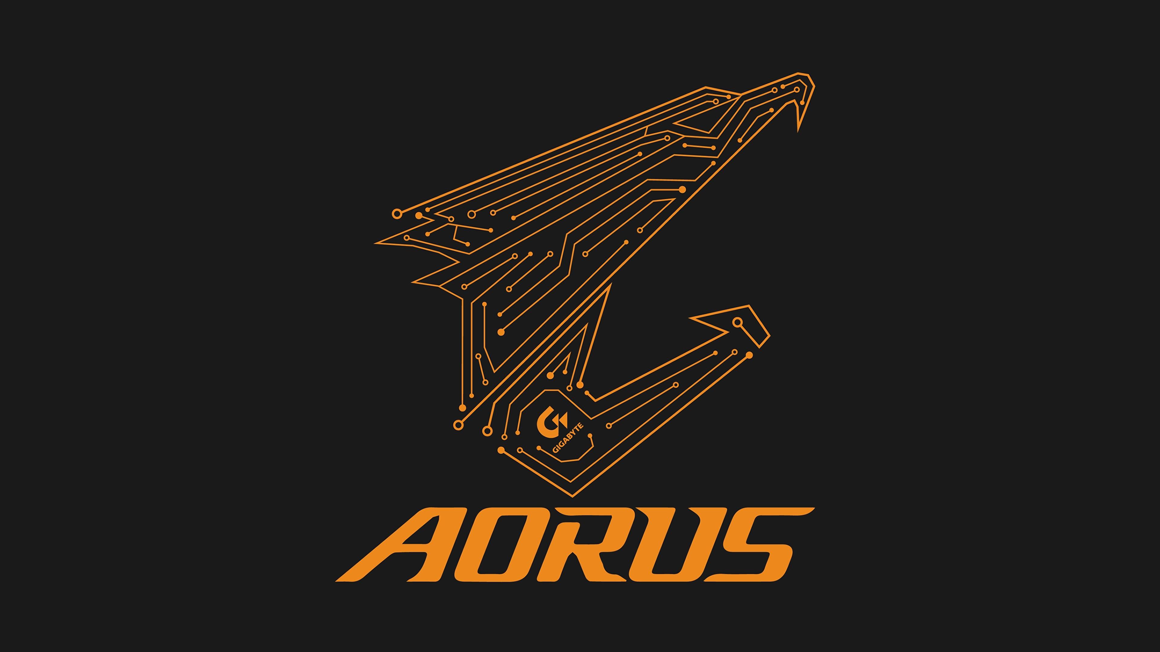 Wallpaper Logo Emblem gigabyte aorus Computers 3840x2160.