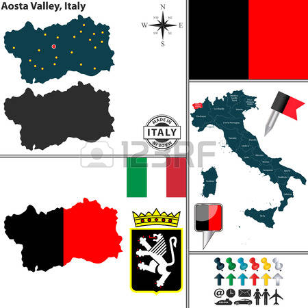 Aosta Valley Region Stock Vector Illustration And Royalty Free.