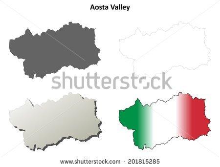 Aosta Valley Map Vector Stock Vectors & Vector Clip Art.