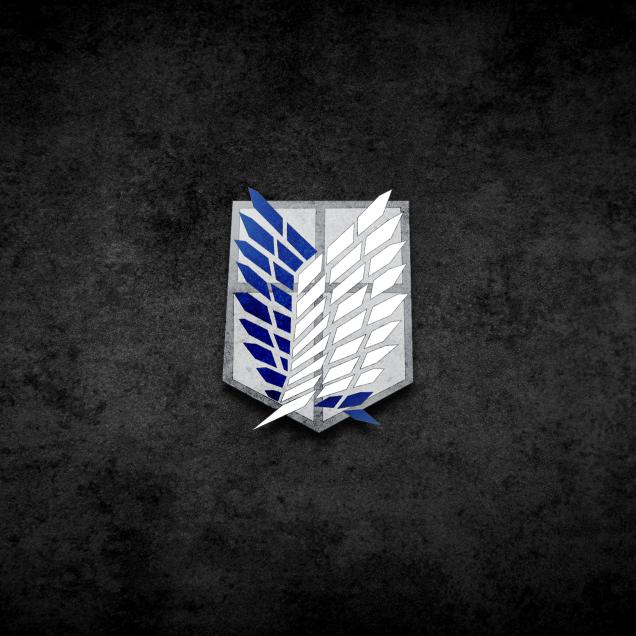Wallpaper HD Attack on Titan Logo (進撃の巨人).