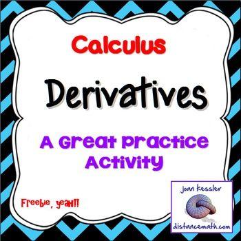 Calculus Finding Derivatives.