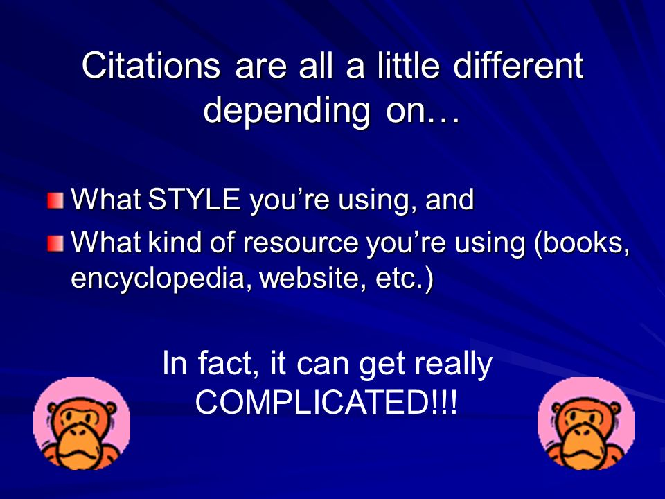 CITATIONS an introduction by Ms. Leibrandt What is a Citation? a.