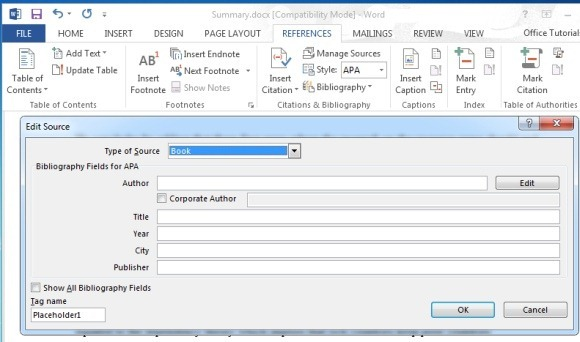 How To Add Citations and References in Microsoft Word Documents.