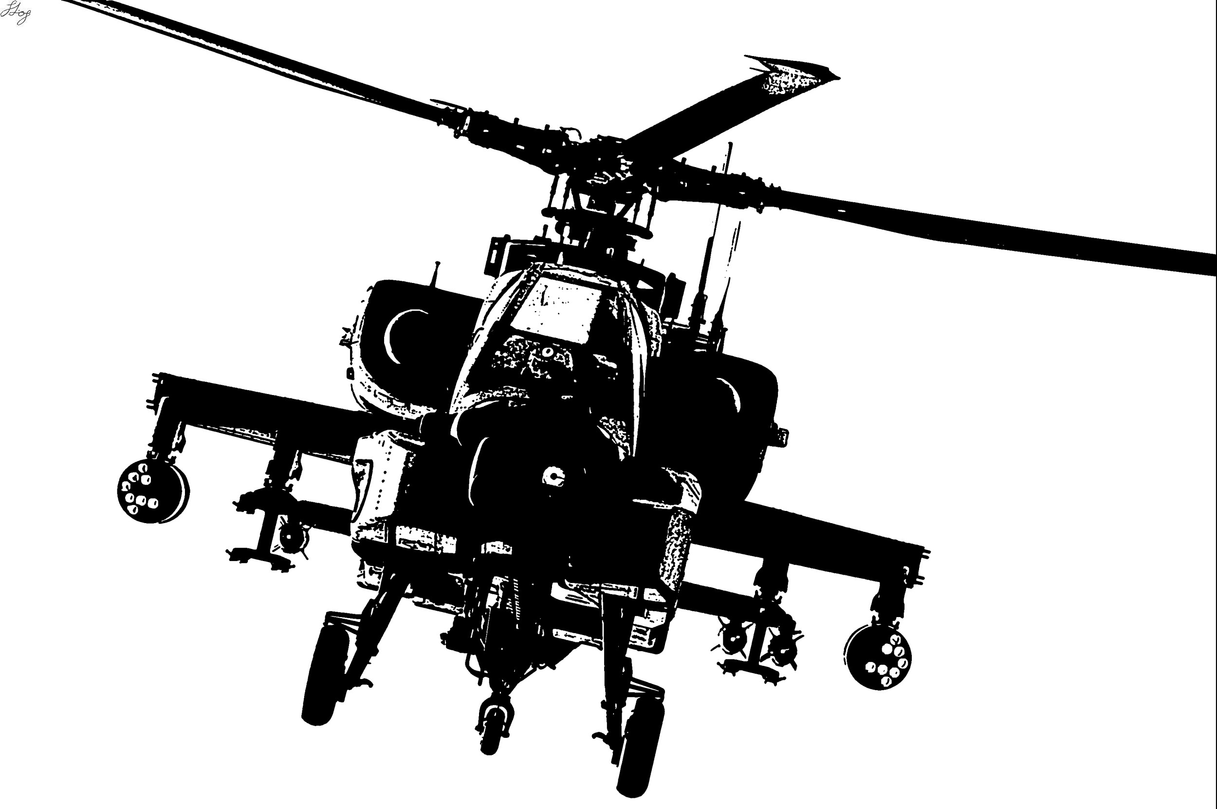 Apache attack helicopter by random.