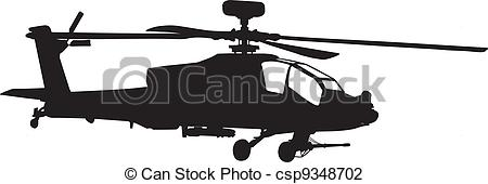 Vector Illustration of Apache helicopter.