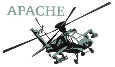 Apache Helicopter Clipart.