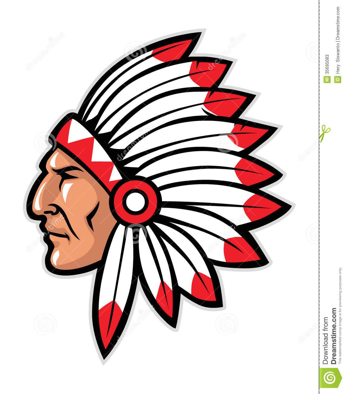 Apache Indian Clipart.
