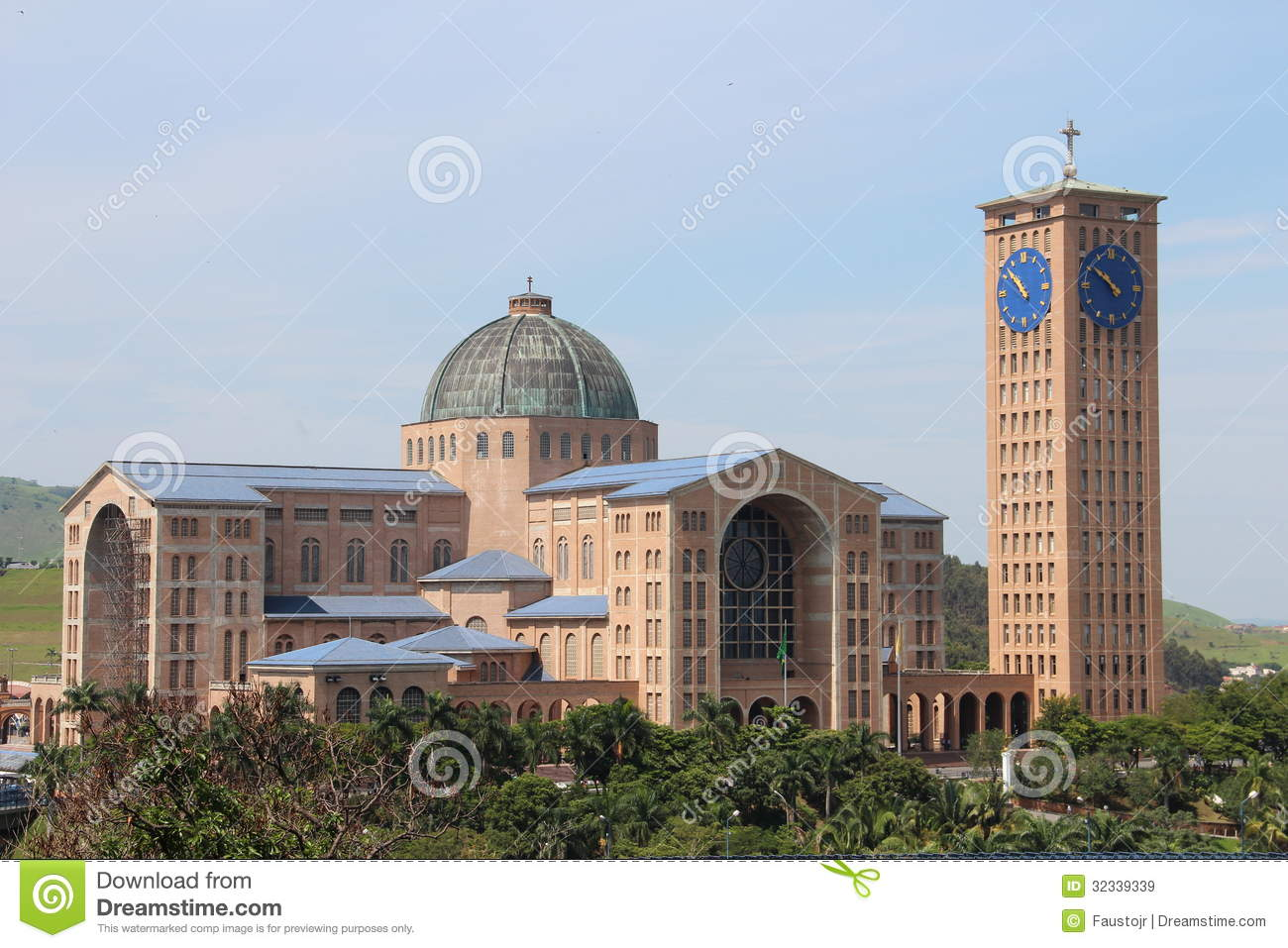 The Monumental Cathedral Of Aparecida Do Norte Royalty Free Stock.