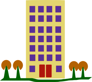 Apartment block clipart.