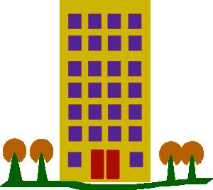 Apartment block clipart.