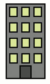 Apartment building clipart.