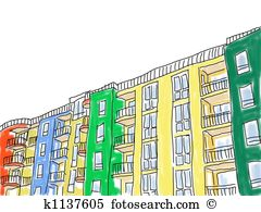 Apartment block Clipart and Stock Illustrations. 1,083 apartment.