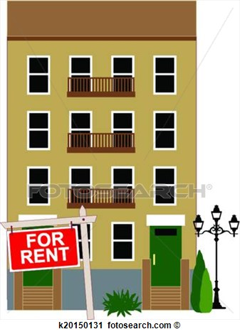 Apartment building clip art.