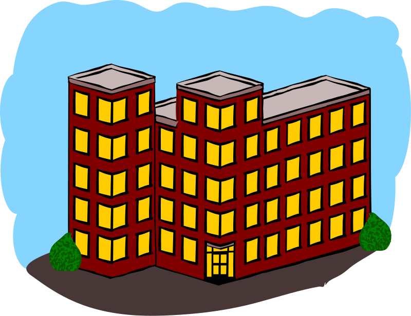 Free clipart apartment building.
