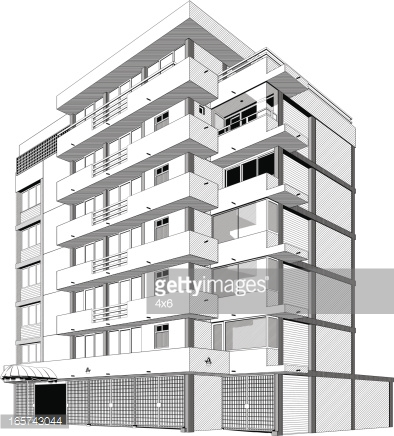 Apartment building clipart black and white 2 » Clipart Station.