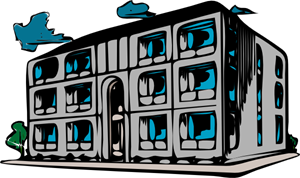 Condominium Apartment Building PNG, SVG Clip art for Web.