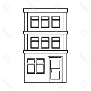 Photostock Vector Apartment Building Icon Over White Background.