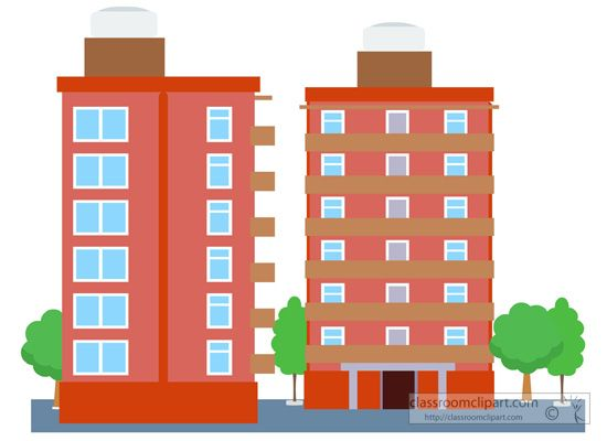Buildings clipart condominium, Buildings condominium.