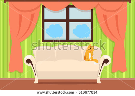 Cat Window Apartment Stock Photos, Royalty.