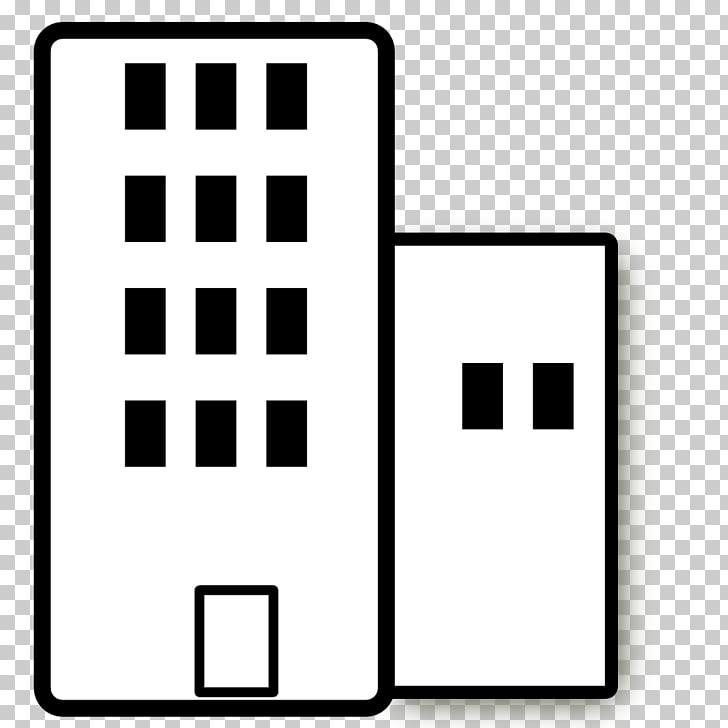 Building Apartment White , Black Building s PNG clipart.